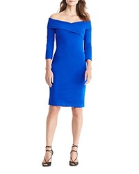 Ralph Lauren Off The Shoulder Dress Port Blue