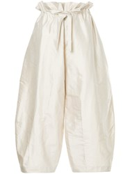 Nehera Parya Tafetta Trousers Nude And Neutrals