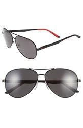 Men's Carrera Eyewear 59Mm Metal Aviator Sunglasses Matte Black Grey