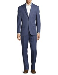 Lauren Ralph Lauren Striped Wool Suit Set Blue