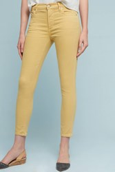 Anthropologie Citizens Of Humanity Rocket High Rise Skinny Cropped Jeans Canary
