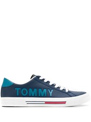 Tommy Jeans Leather Baseball Sneakers Blue