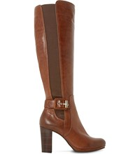 Dune Scout Leather Thigh High Boots Tan Leather