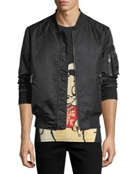 Eleven Paris Ac Dc Nylon Bomber Jacket Black