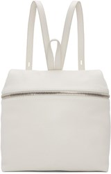 Kara Off White Large Leather Backpack