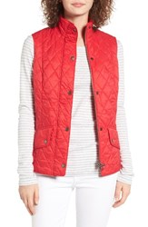 Barbour Women's Calvary Quilted Vest Red