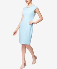 Betsey Johnson Imitation Pearl Collar Sheath Dress Light Blue