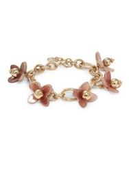 Design Lab Lord And Taylor Flower Chain Bracelet Gold