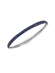 Effy Sapphire And 14K White Gold Hinged Bangle