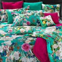 Roberto Cavalli Blaze Duvet Set Super King Teal