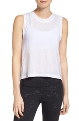 Under Armour Women's Breathe Muscle Tee White