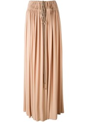 Lanvin Drawstring Maxi Skirt Pink And Purple