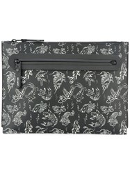 Lanvin Koi Fish Clutch Bag Black