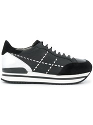 Hogan Platform Sole Sneakers Black
