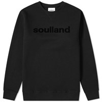 Soulland Logic Logo Crew Sweat Black