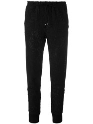 Ermanno Scervino Drawstring Cropped Lace Trousers Black