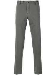 Pt01 Fitted Trousers Men Silk Cotton Spandex Elastane 48 Grey