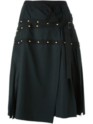 Sacai Studded Wrap Skirt Green