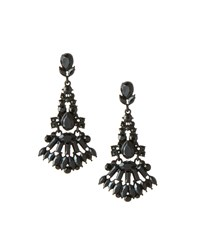 Lydell Nyc Jet Black Crystal Chandelier Earrings Women's