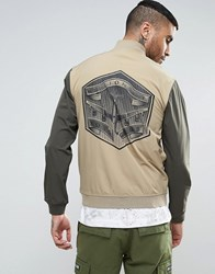 Billionaire Boys Club Bomber Jacket With Back Patch Beige