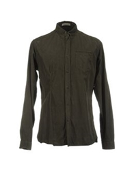 Sapore Long Sleeve Shirts Dark Green