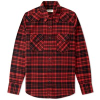 Saint Laurent Checked Western Shirt Red