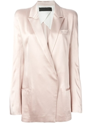 Haider Ackermann Double Breasted Blazer Nude And Neutrals