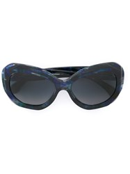 Chanel 'Signature' Sunglasses Blue