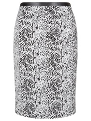Planet Jacquard Textured Skirt Black White