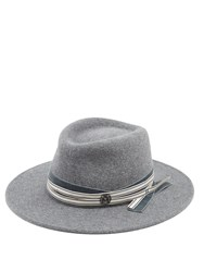 Maison Michel Thadee Rabbit Fut Felt Hat Grey