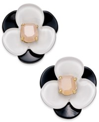 Kate Spade New York 14K Gold Plated Pink Stone Floral Stud Earrings