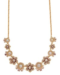 Marchesa Floral Statement Necklace 16 Gold Multi