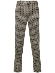 Neil Barrett Houndstooth Trousers Brown