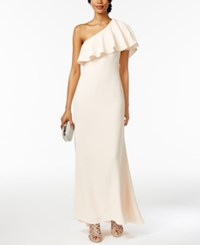 Vince Camuto One Shoulder Ruffled Gown Blush