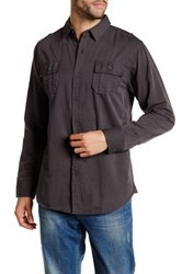 Burnside Top Dog Long Sleeve Regular Fit Shirt Gray