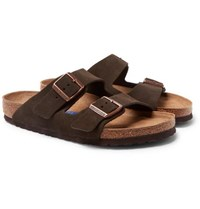 Birkenstock Arizona Suede Sandals Brown