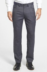 Men's Vince Camuto Sraight Leg Five Pocket Stretch Jeans Navy Donegal