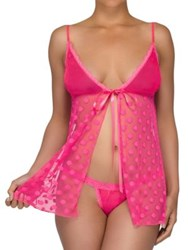 5191363045d7f Hanky Panky Hot Dot Babydoll With G String Tickled Pink