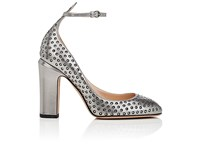 Valentino Women's Tango Leather Ankle Strap Pumps Silver