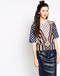 Emma Cook Aztec T Shirt Yellow
