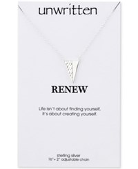 Unwritten Textured Triangle Pendant Necklace In Sterling Silver