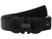 Salvatore Ferragamo Adjustable Belt 679312 Nero Men's Belts Black