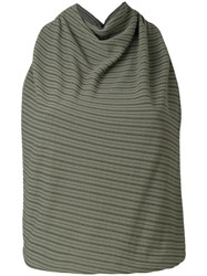 Atlein Cowl Neck Tank Women Polyamide Viscose 40 Green