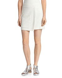 Halston Heritage Faux Wrap Mini Skirt Cream
