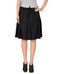 Kayla Knee Length Skirts Black