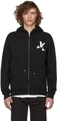 Alyx Black Visual Edition Globe Trotting Zip Up Hoodie