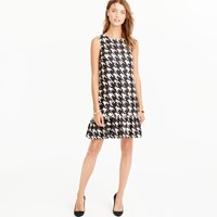 J.Crew Flounce Silk Dress In Wolfstooth