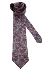 Pierre Cardin Vintage Printed Tie Pink And Purple