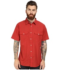 Brixton Wayne S S Woven Red Men's Short Sleeve Button Up