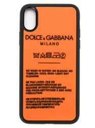 Dolce And Gabbana Iphone X Cover In Rubber Black